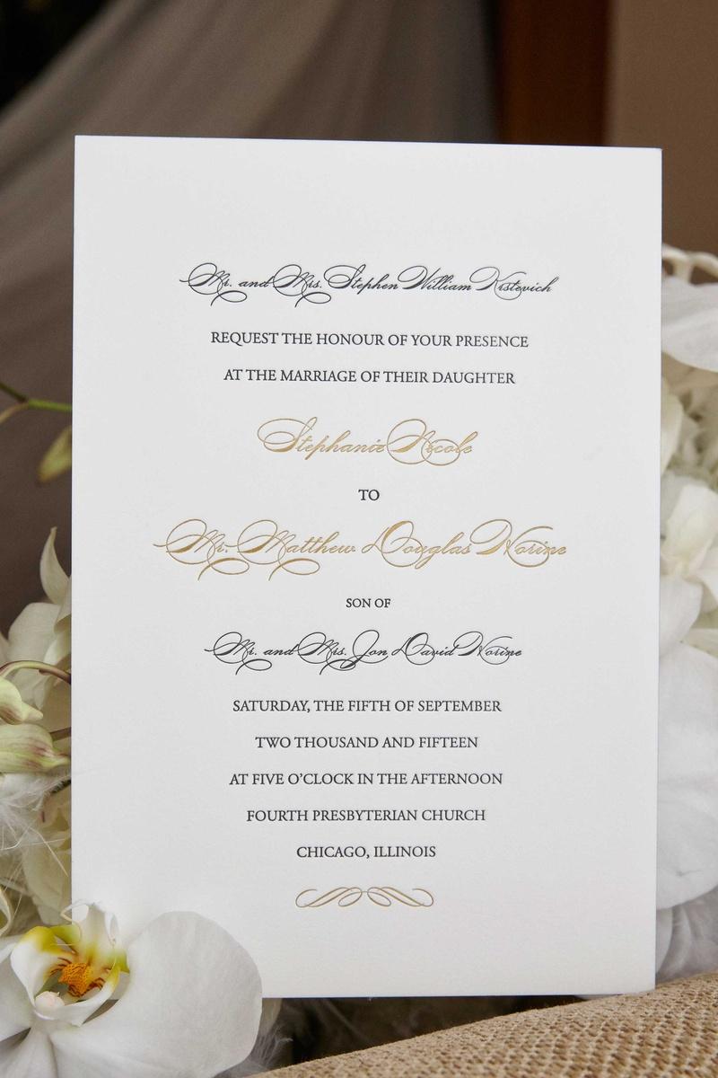 Invitations & More Photos - Classic Script Wedding Invite - Inside ...