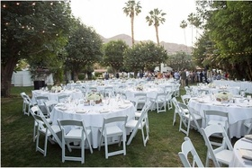 Reception on the main lawn near the waterfall where Ginger Rogers married Jacques Bergerac.