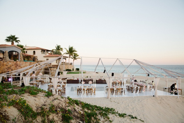 Wedding reception Barbie Blank and Sheldon Souray beach reception ocean cabo san lucas mexico