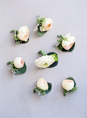 groom boutonniere white ranunculus flower groom boutonniere rose buds with greenery heatherlily