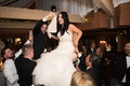 bride in vera wang does hora with her husband
