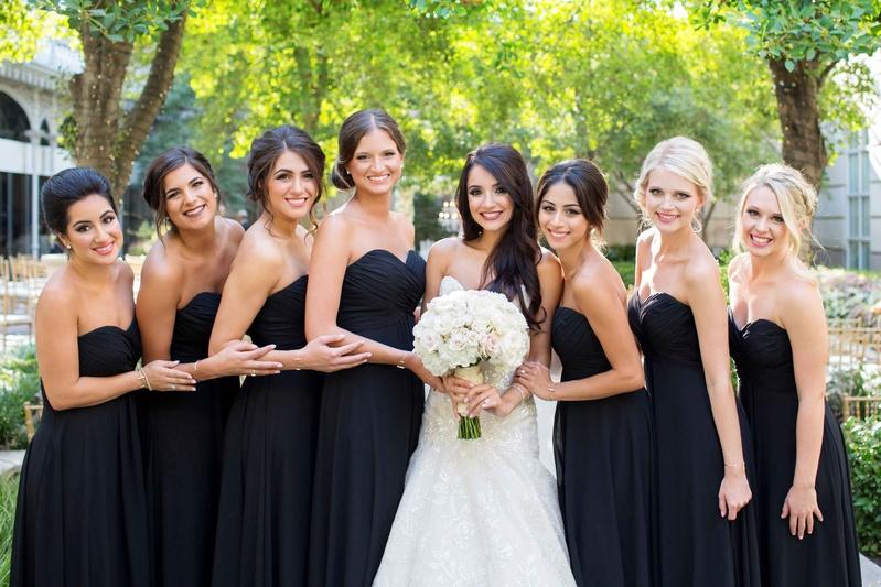 bride trumpet dress big white pink blush bouquet black strapless dresses updos