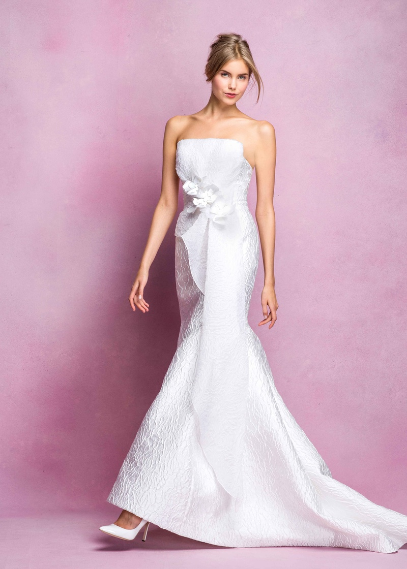 Wedding Dresses Photos - Angel Sanchez Fall 2016 Flower Appliqué ...