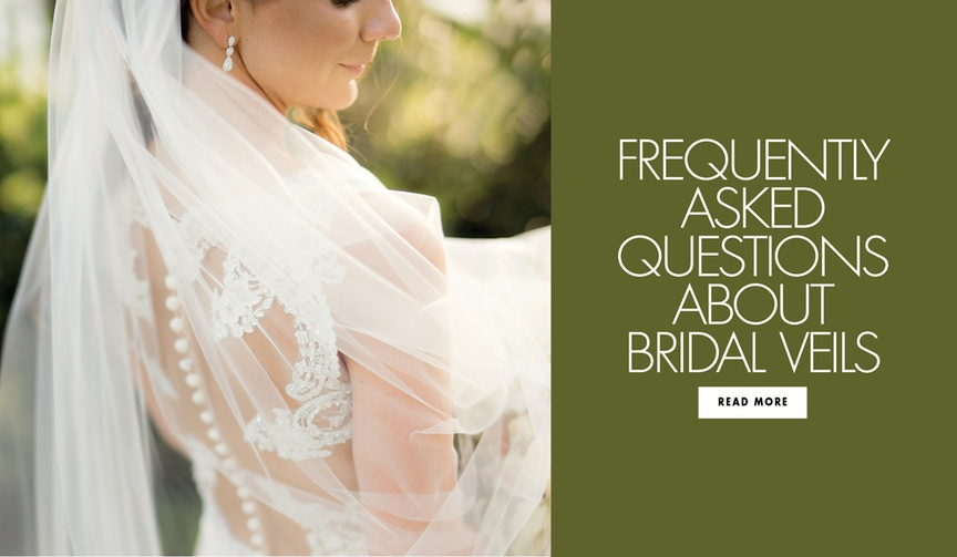 bridal veil FAQs, when to take off your veil at your wedding