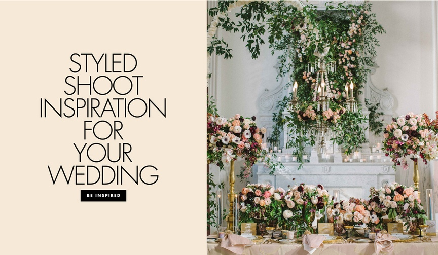 10 unique wedding decor details styled shoots fashion chic inspiration new innovative