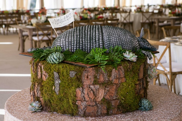 Rustic Southern wedding groom's cake inspired by Steel Magolias movie