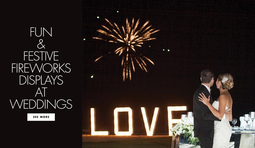 Fun and festive firework fireworks displays at weddings