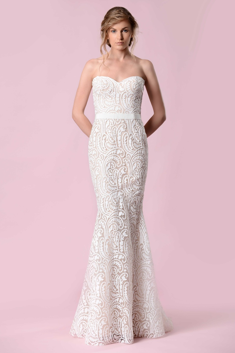 Wedding Dresses Photos - Strapless Paisley Gown by Gemy Maalouf 2016 ...