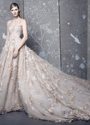 Romona Keveza Fall 2018 bridal collection lace one shoulder ball gown