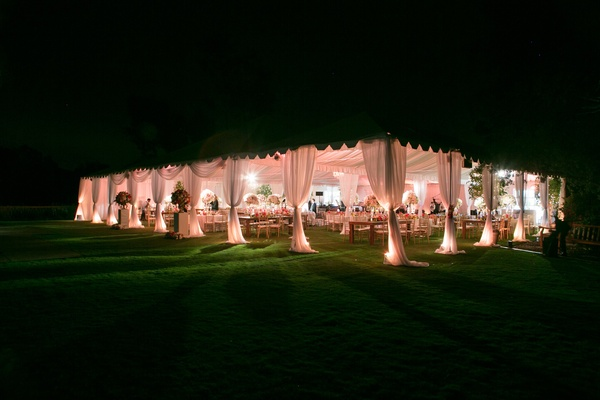tent wedding at Rancho Valencia Resort