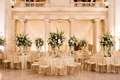 wedding reception at the old courthouse cleveland classic design color palette greenery gold chairs