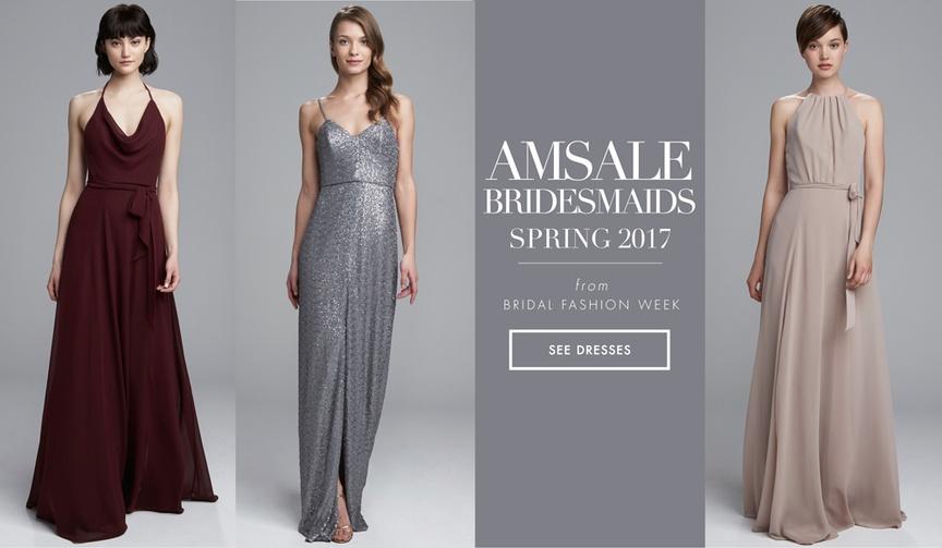 Amsale Bridesmaids spring 2017 bridesmaid dress collection