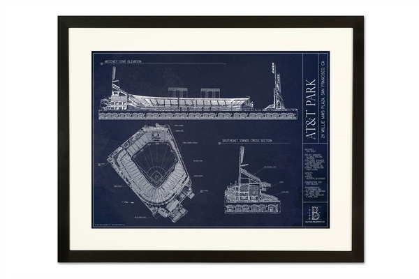 Hunter pence lets get lexi sweepstakes inside weddings ballpark blueprints framed print of att park in san francisco california home of the malvernweather Images