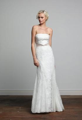 Joy Collection Barbara Kavchok Kit wedding dress lace sheath strapless gown