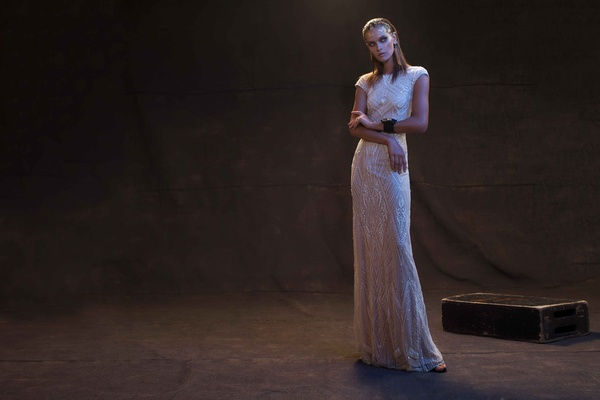 Limor Rosen 2017 Daria wedding dress beaded fitted dress Treasure collection