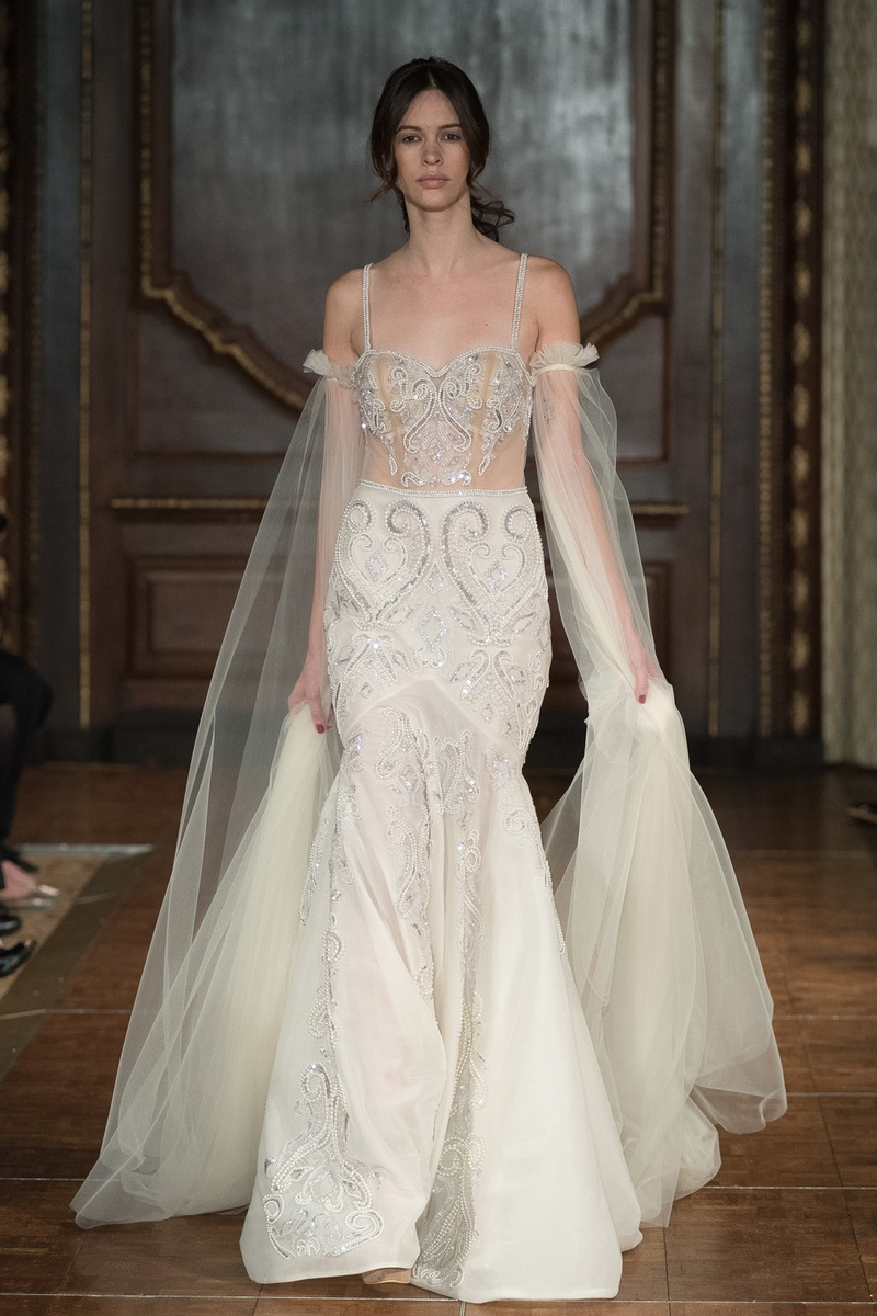 Wedding Dresses Photos - Beaded Fit-and-Flare Gown by Idan Cohen ...