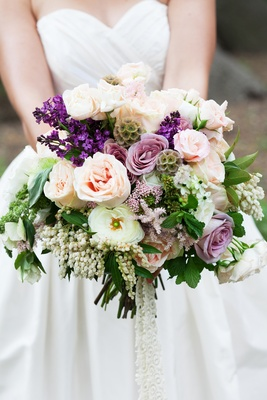 Wedding flowers handpicked bouquets for rustic bohemian ceromonies purple lilac white and light pink unstructured wedding flower bouquet mightylinksfo