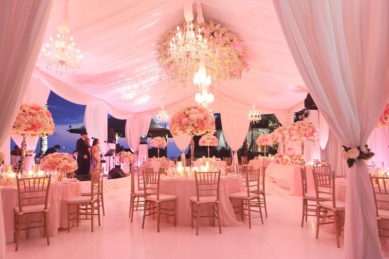 Reception Dcor Photos Pretty In Pink Reception Inside Weddings