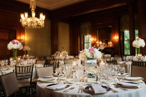 wedding reception in a ballroom of the sleepy hollow country club