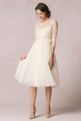 Jenny Yoo Bridal Two Piece Wedding Dress With Tea Length Hemline