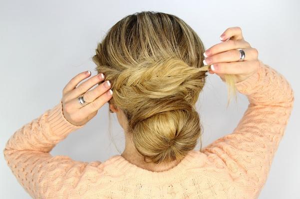 Outstanding Wedding Day Hairstyles Fishtail Braid Wrapped Bun Tutorial Short Hairstyles Gunalazisus