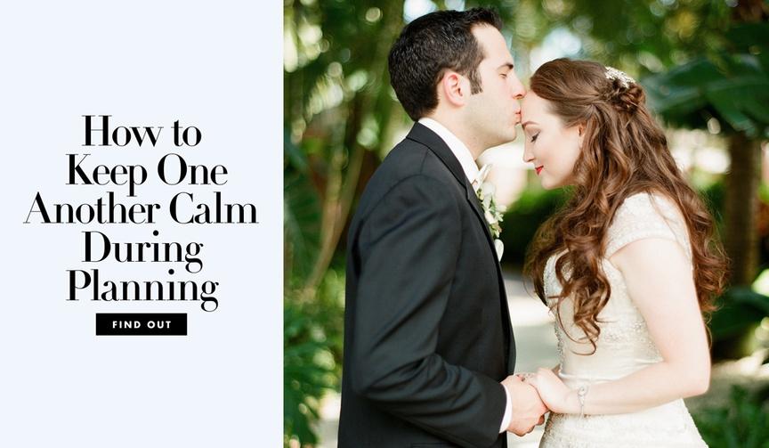 how to keep partner beloved fiance fiancee calm level head wedding planning nuptials managing stress