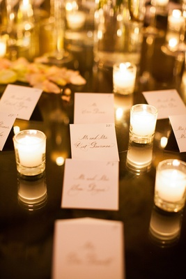Adrianna Costa wedding seating cards with calligraphy