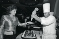 black and white chef cooks to order