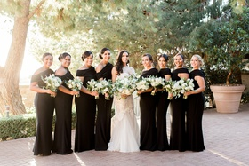 Galia Lahav bridesmaid dresses black long for charlise castro houston astros george springer