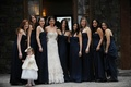 Genevieve Cortese with flower girl and bridesmaids