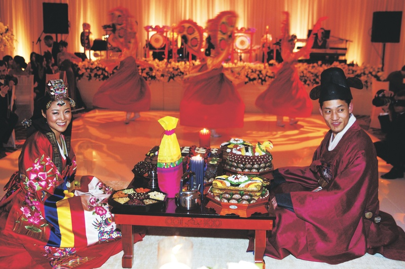 Korean traditional wedding decor best site hairstyle and wedding ceremony dcor photos korean paebaek ceremony inside weddings junglespirit Images