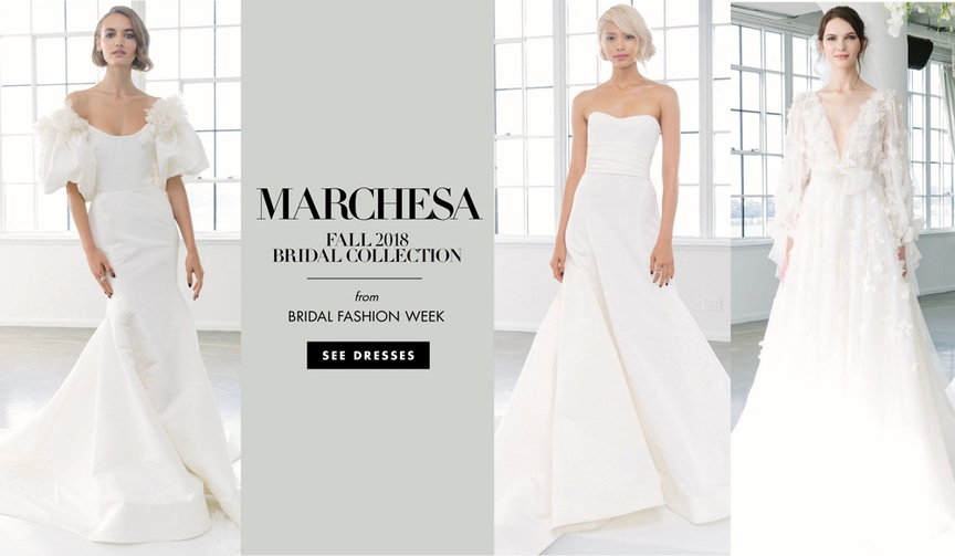 Marchesa Bridal fall 2018 wedding dress collection bridal gowns