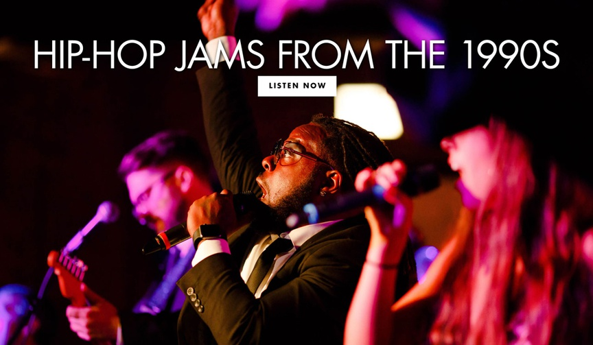 Get ideas for some 1990s hip-hop music for your wedding reception from The Gold Coast All Stars!