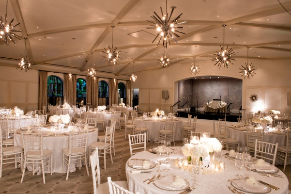 Elegant all white wedding with modern details at luxe bel air hotel bel air wedding reception all white decor ballroom junglespirit Choice Image