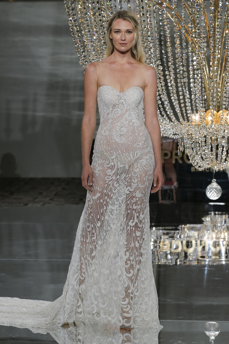 Wedding dresses photos risca by pronovias inside weddings pronovias fall 2018 strapless sheer wedding dress with sweetheart neckline illusions beaded fabric junglespirit Gallery