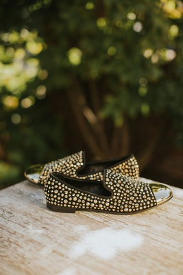 men's slip on shoes designer wedding shoe ideas black with gold toe and gold studs embellishments