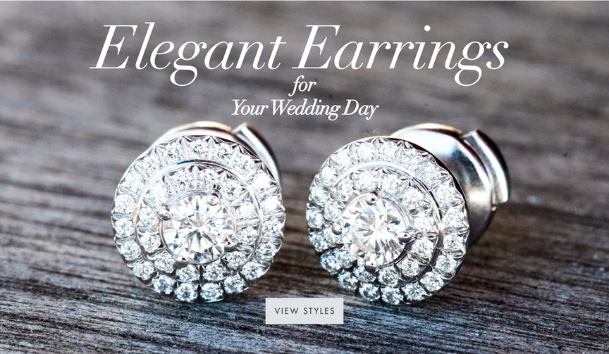 Wedding jewelry ideas pretty bridal wedding day earring styles