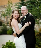 Bride and groom in Park City, Utah wedding
