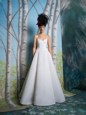 Isabelle Armstrong Spring 2019 collection sweetheart faille ball gown with spaghetti straps
