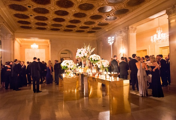 the grand ballroom the plaza new york city wedding reception floral arrangements