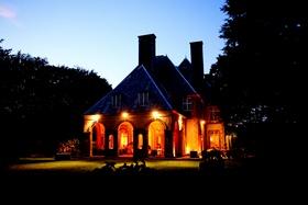 Glen Manor House wedding venue at night