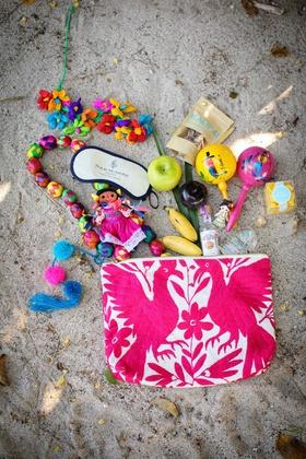colorful gift bags destination styled shoot punta mita mexico wedding four seasons knick knacks