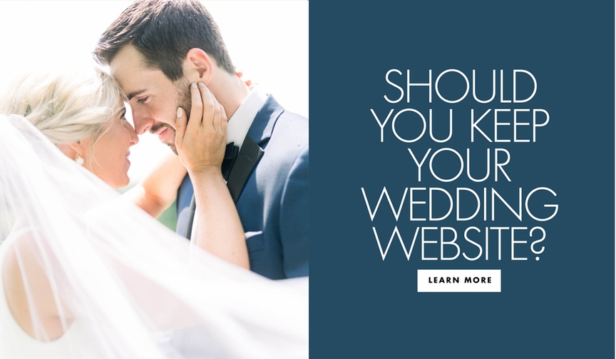 should you keep your wedding website? how to use your wedding website after marriage