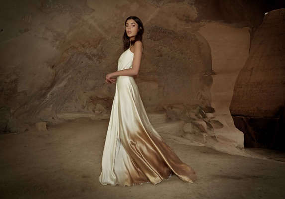 Limor Rosen 2017 Savanna wedding dress ombre satin Tribal Collection