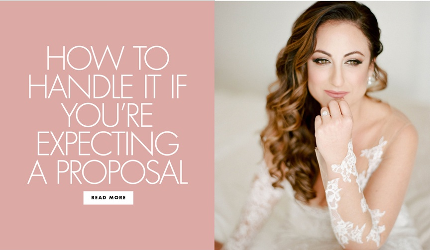 how to handle it if you're expecting a proposal what to do and how to remain calm