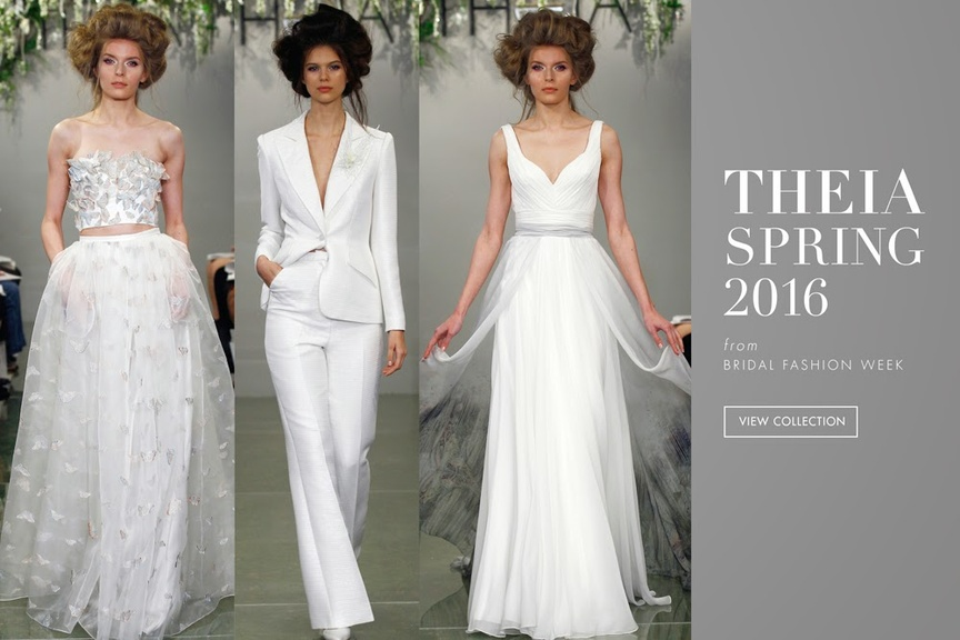 Wedding dresses from the THEIA spring 2016 collection