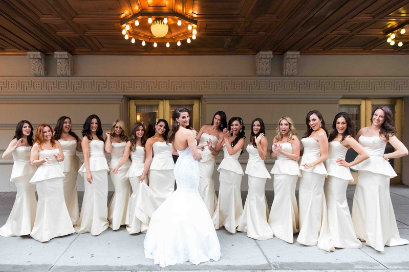 Bridesmaid Peplum Dress