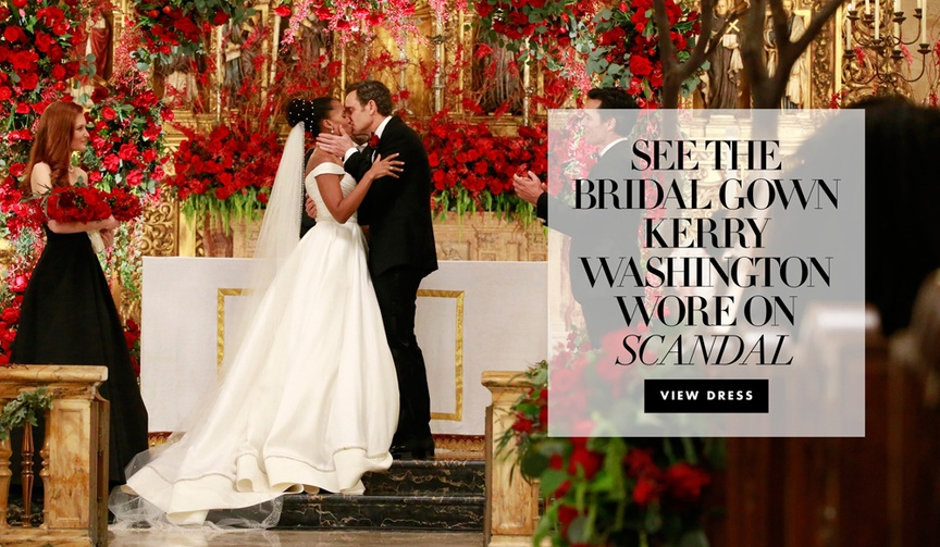 scandal 100th episode, olivia pope marries fitz, anne barge berkeley gown kerry washington