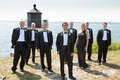 Groomsmen and groomswoman at Newport wedding