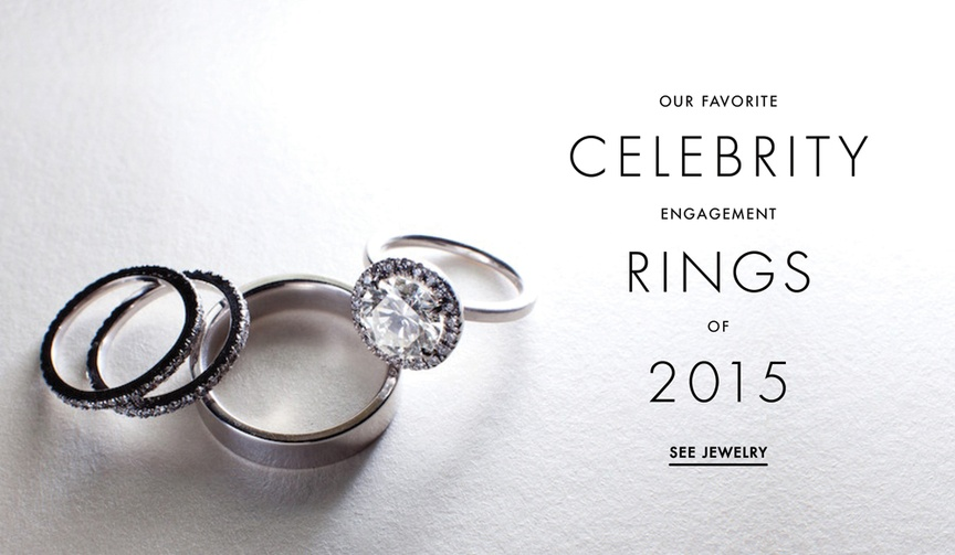 Celebrity engagement rings on Instagram